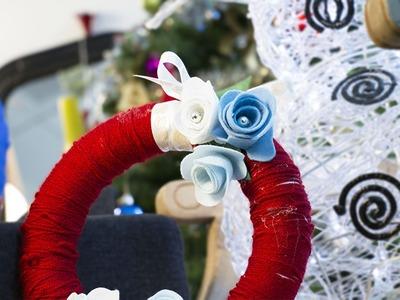 Couronne de Noël fait maison - Le DIY