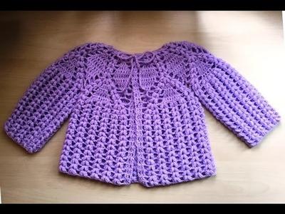 Magnifique brassière bébé au crochet 2. Chaquetita bebe tejida a crochet 2