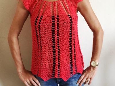 Magnifique blouse au crochet ajouré 1. Linda blusa tejida a crochet facil 1
