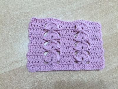 Tuto point relief au crochet