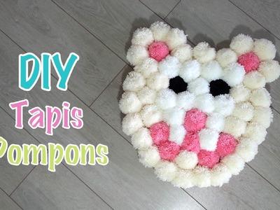 DIY Tapis de pompons forme Ourson