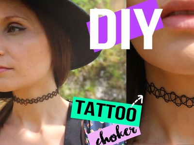 DIY┋COLLIER FAUX TATOUAGE - RAS DE COU tattoo choker DIY Français