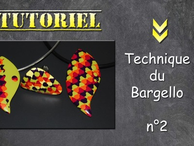 Tuto fimo.polymère Technique Bargello n°2