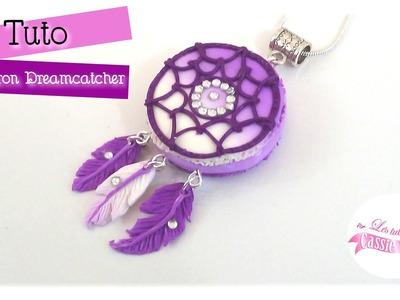 { Tuto } Macaron dreamcatcher. attrape-rêves - Fimo
