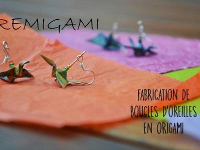 Création d'une boucle d'oreille en origami - RémiGami