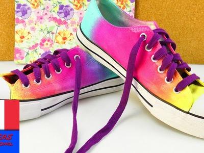 DIY Personnaliser ses chaussures pour l'été avec des sprays de couleur | Simple à faire soi-même