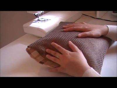 Tuto couture : housse de coussin sans fermeture a glissière. DIY pillow without zipper