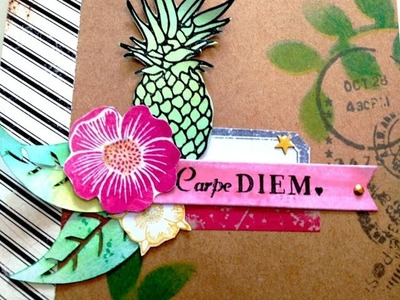 [Scrapbooking] Mini album Carpe Diem