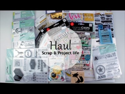 Haul #1 | Scrapbooking & Project Life