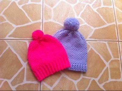Crochet:Bonnets unisex super faciles et toutes tailles. Gorros tejidos a crochet super facil !
