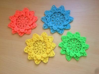 Crochet magnifiques fleurs au crochet. Flores tejidas a crochet muy lindas