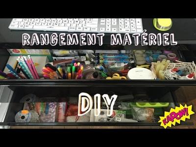 Rangement matériel DIY pour mini budget
