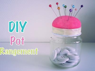 DIY Recyclage pot rangement porte épingles