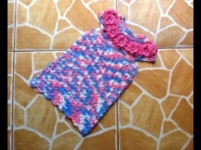Crochet :Robe fille magnifique au crochet partie 2.2. Dress crochet very beautiful 2.2