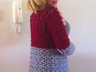 Tuto crochet:Magnifique cardigan veste manteau femme crochet facile 2.3