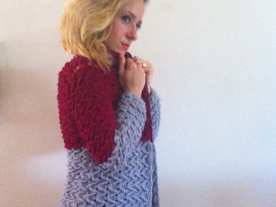 Tuto crochet:Magnifique cardigan veste manteau femme crochet facile 3.3