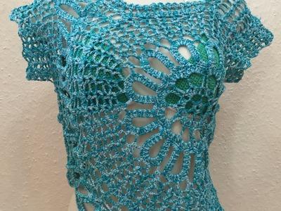 Tuto top,  blouse au crochet 3.4