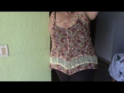 BLUSA CON TIRANTES 2  XL en crochet 3 de 3