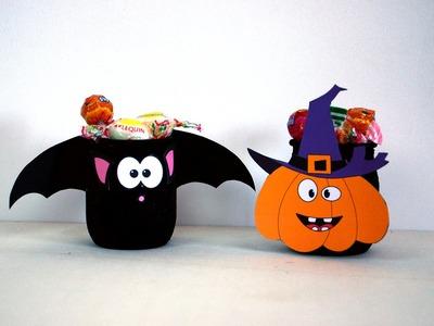 Activité manuelle Halloween - Bricolage enfant - Déco citrouille, chauve-souris - DIY