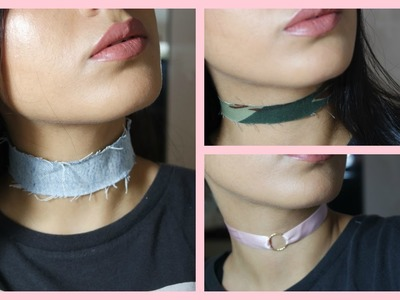DIY: COLLIERS. CHOKERS RAPIDE & FACILE