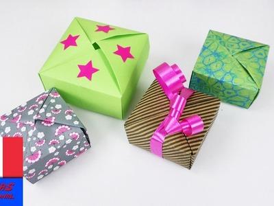 DIY Boîte cadeau | Petites boîtes d'Origami à plier | Super idée pour un cadeau