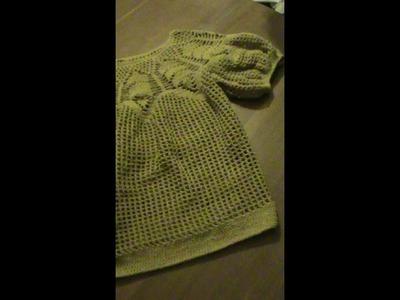 Blusa talla 34-36. Crochet. Parte 3.