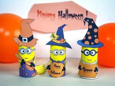 Minions d'Halloween - Activité manuelle - Bricolage enfant - Carton de papier toilette - DIY