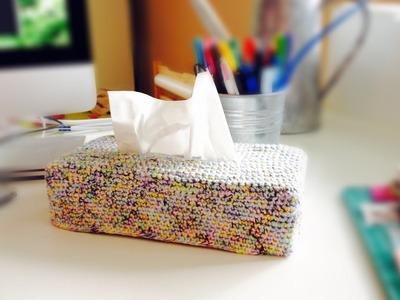 Réaliser une boîte de mouchoirs au crochet