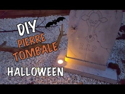 DIY Déco Halloween Pierre Tombale. Tomb Stone