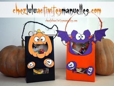 Sacs à bonbons pour Halloween - Activité manuelle - Bricolage enfant - DIY