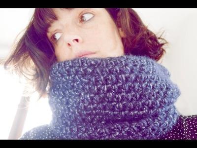 Snood double au crochet