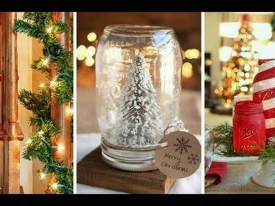 43 idées déco de Noel DIY avec des bocaux en verre