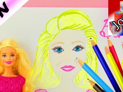 DIY Dessiner une Barbie | Essayons de dessiner Barbie | Peut-on la reconnaître?