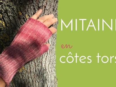 Tricoter des mitaines en côtes torses: le tuto
