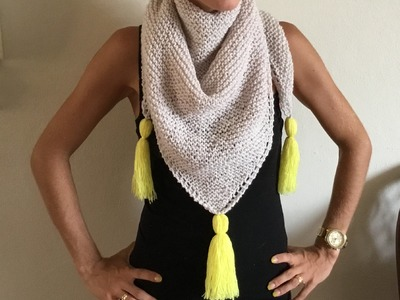 Tricot : Châle tricot très tendance facile. Chal tejido en dos agujas moderno facil