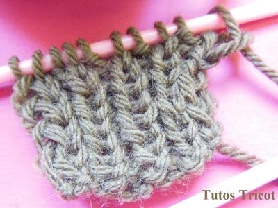 Tricot côtes 1.1 | Apprendre à tricoter les côtes 1.1 | Tricot point de base