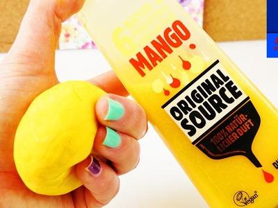 DIY Savon à modeler avec du gel douche parfum mangue | Savon à modeler avec seulement 3 ingrédients