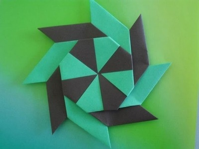 Origami:comment faire un shuriken a 8 branches transformable+BONUS|1080p