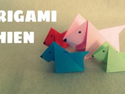 Origami facile - Chien en origami