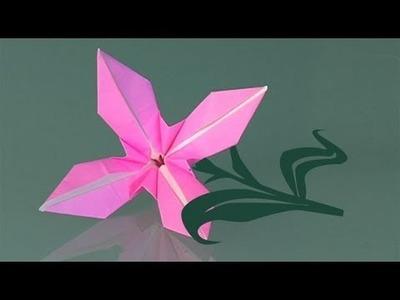 Une fleur in papier, comment faire origami