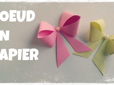 Comment faire un NOEUD en Papier (Facile) - Boite Cadeau Décorée