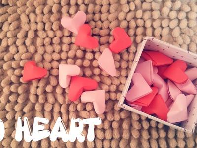 Origami facile - 3D coeur
