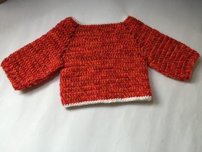 Tuto pull au crochet facile special gaucher