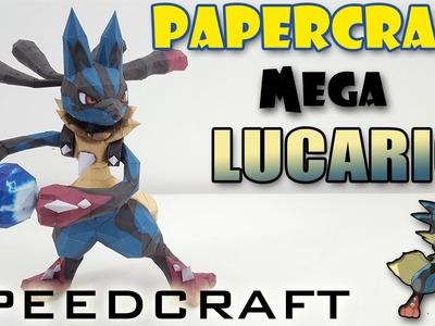Papercraft - MEGA Lucario - Le SpeedCraft de la réalisation !
