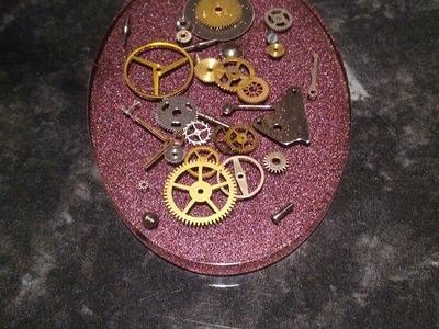 Tuto résine : realiser un pendentif steampunk