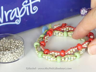 Bracelet WRAPIT LOOM - Modèle croisé à deux tailles de perles