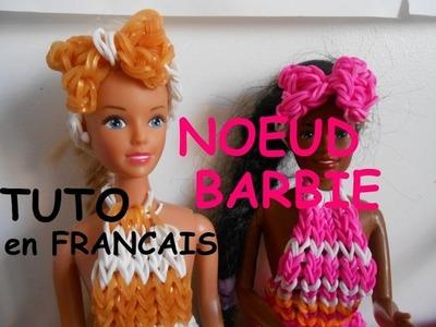 Tutoriel en français  Noeud pour cheveux barbie.poupée en élastique loom