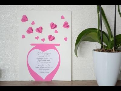 DIY Carte coeur fête des mères, activité créative