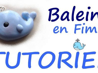 Tutoriel Fimo - Baleine kawaii. Polymer Clay Tutorial - Cute whale