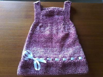 Tuto tricot layette : tricoter une robe d'été pour bébé au point de riz et jersey